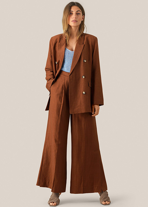 SECOND FEMALE BROWN WIDE PANTS