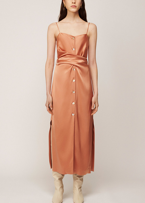 NANUSHKA APRICOT DRESS