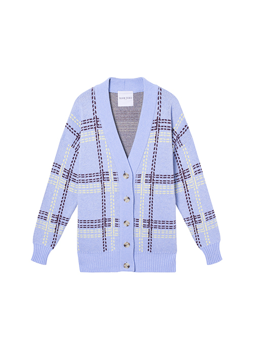 VALENTINE WITMEUR CHECKED CARDIGAN
