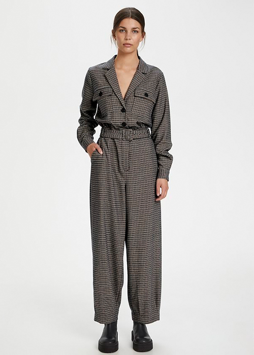 GESTUZ CHECKED JUMPSUIT