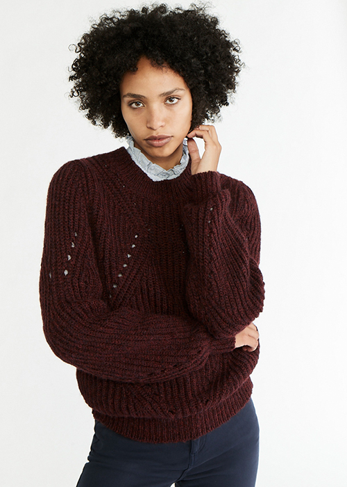 VANESSA BRUNO BURGUNDY KNIT