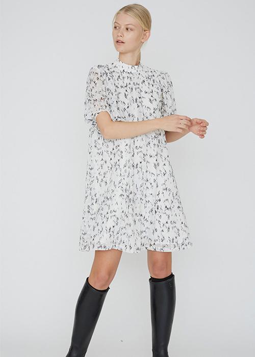 DESIGNERS REMIW WHITE PRINTED DRESS