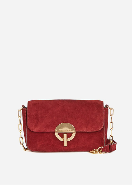 VANESSA BRUNO BURGUNDY SUEDE BAG