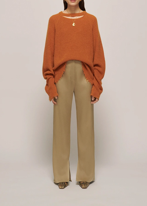 NANUSHKA OVERSIZED ORANGE KNIT