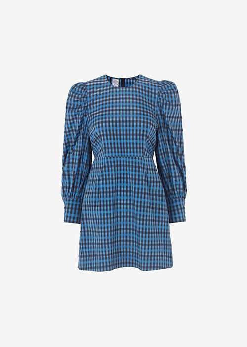 BAUM UND PFERDGARTEN BLUE CHECK DRESS