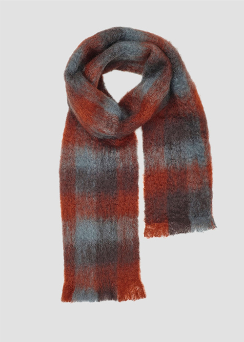 LOVAT AND GREEN TERRA COTTA SCARF