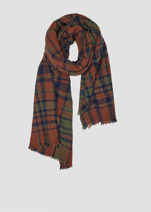 LOVAT AND GREEN BROWN SCARF