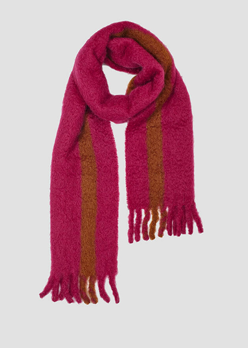 LOVAT AND GREEN FUSCIA SCARF