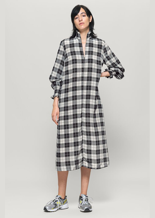 BAUM UND PPFERDGARTEN BLACK/WHITE CHECK DRESS