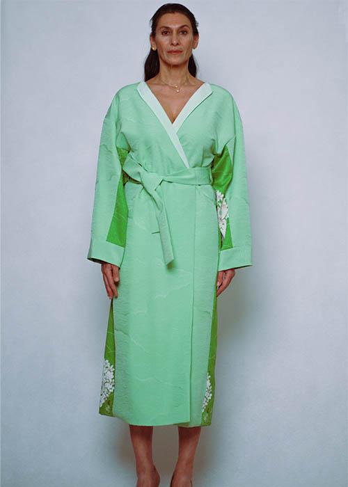 REMONO KIMONO DRESS MINT